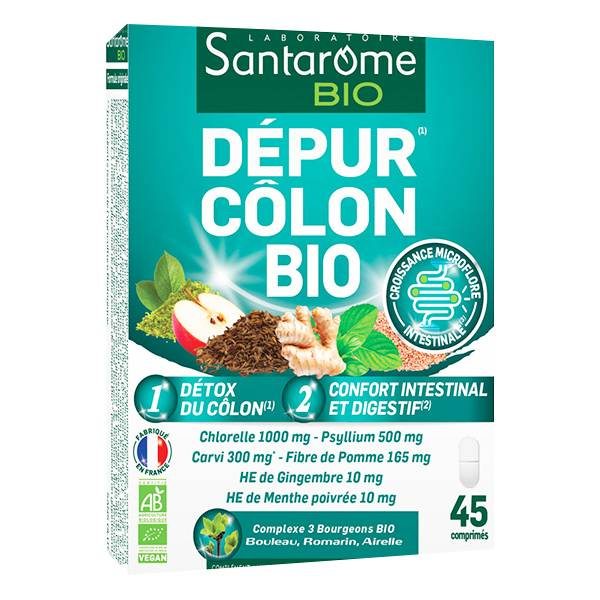Santarome Bio Santarome Dépur Côlon Bio 45 comprimés