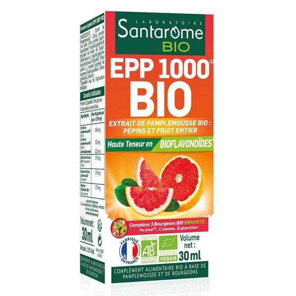 Santarome Bio Extrait Pépins Pamplemousse 1000 30ml