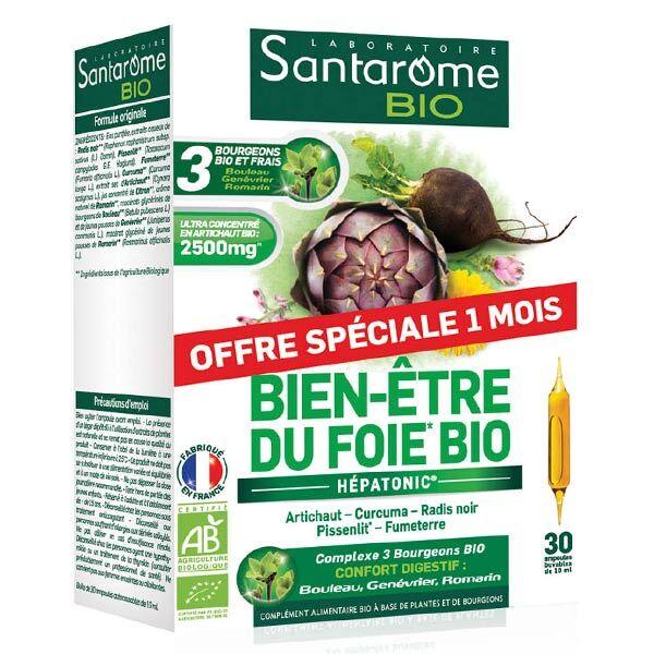 Santarome Bio Bien-Etre du Foie Bio 30 ampoules