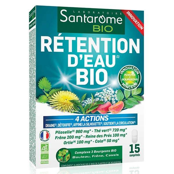 Santarome Bio Rétention d'Eau 15 comprimés