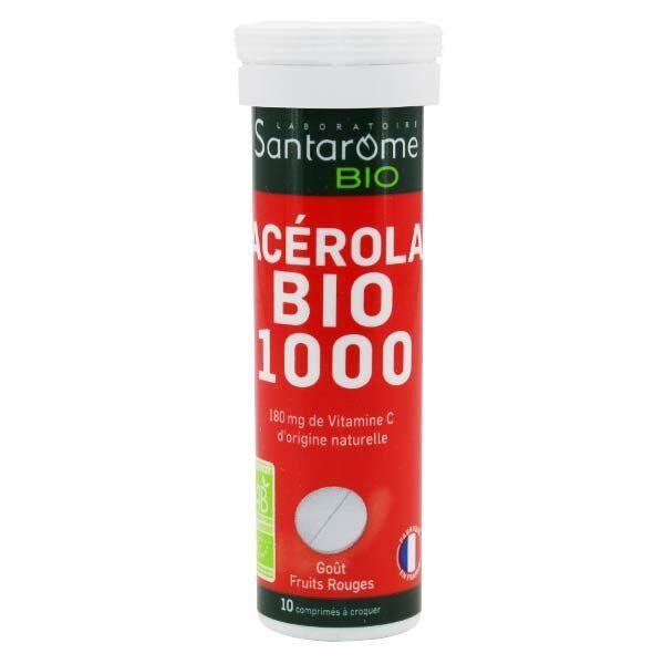 Santarome Bio Acérola Bio 1000 10 comprimés à croquer
