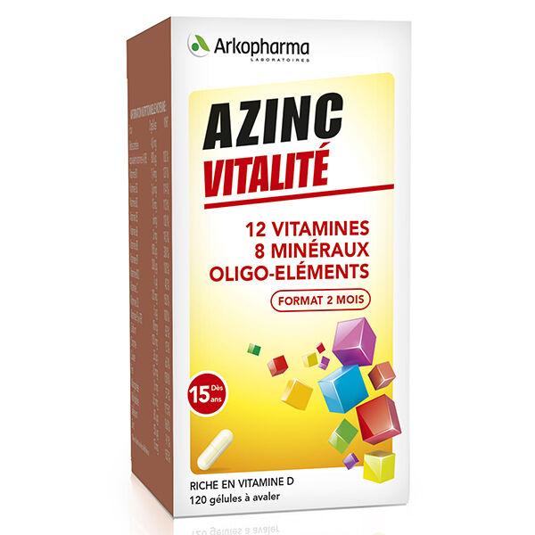 Arkopharma Azinc Adulte Vitalité Vitamines C & E Zinc 120 gélules