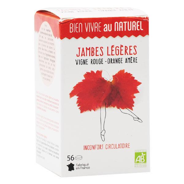 Bien Vivre au Naturel Jambes Légères Vigne Rouge Orange Amère Bio 56 comprimés