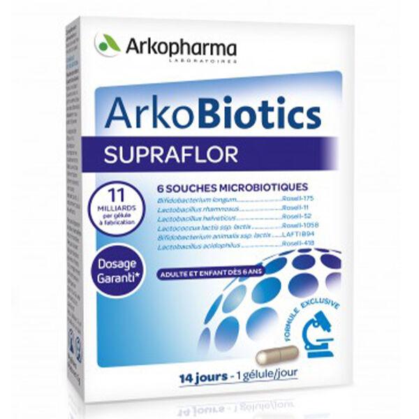 Arkopharma Arkobiotics Supraflor Ferments Lactiques 14 gélules