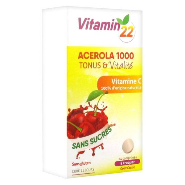 Ineldea Vitamin'22 Acérola 1000 24 comprimés à croquer