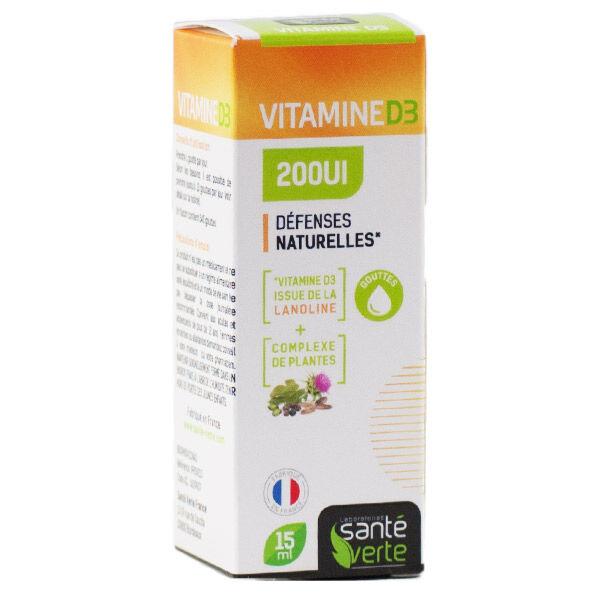 Santé Verte Vitamine D3 200 UI 15ml