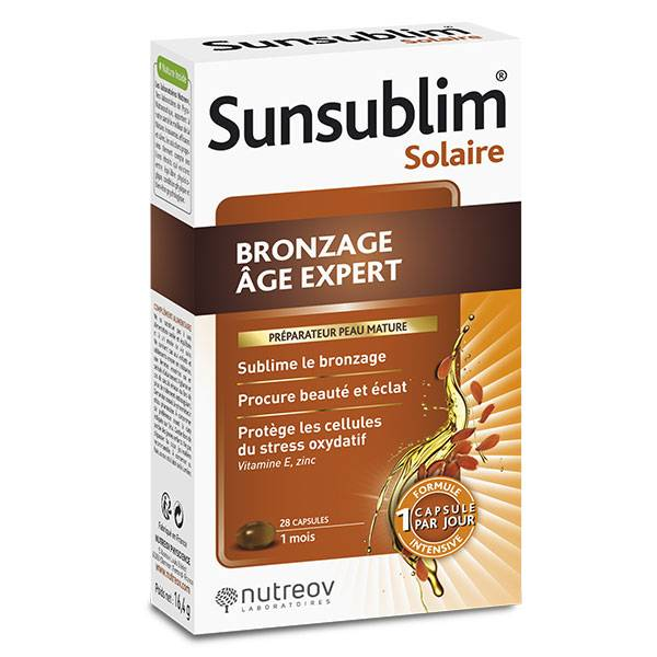 Nutreov Physcience Sunsublim Bronzage Âge Expert 28 capsules