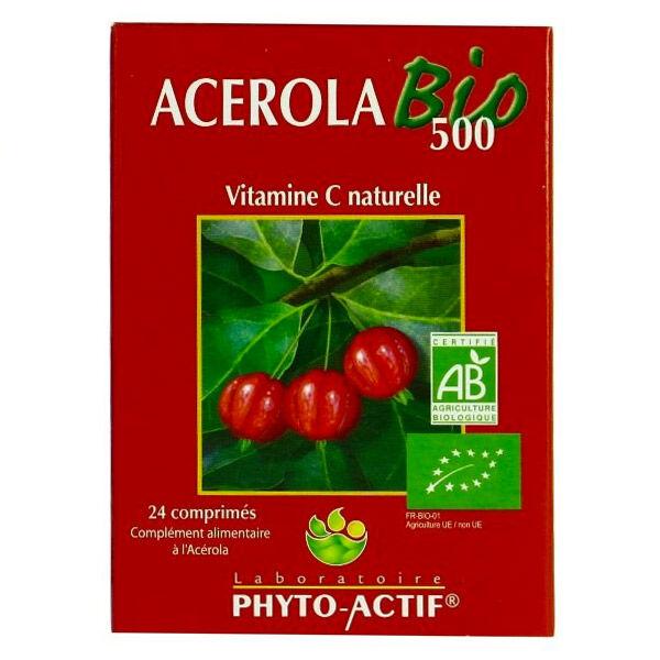 Phyto-Actif Phyto Actif Acerola Bio 500 24 comprimés