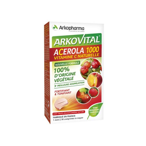 Arkopharma Arkovital Acérola 1000 30 comprimés