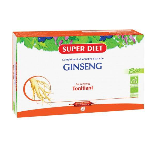 Super Diet Ginseng Bio - 20 ampoules de 15ml