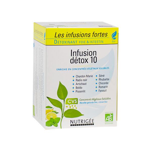 Nutrigée Infusion Détox 10 Plantes Bio 30 sachets