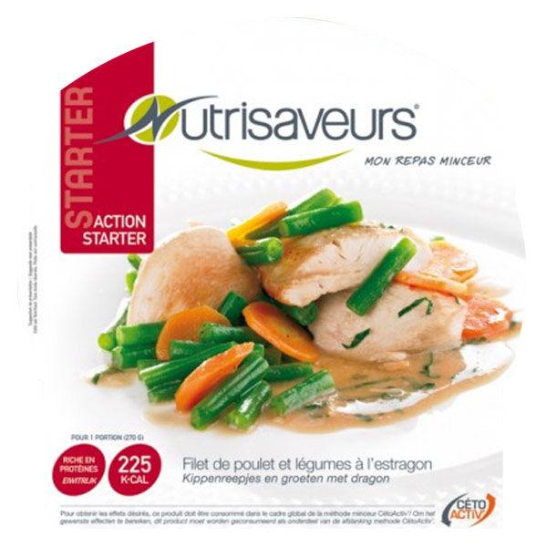 Nutrisaveurs Minceur Starter Plat Cuisiné Filet de Poulet et Légumes à l'Estragon 270g