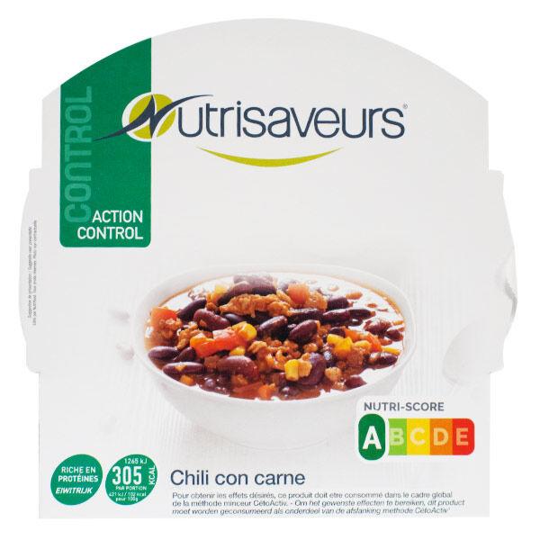 Nutrisaveurs Contrôle du Poids Plat Cuisiné Chili Con Carne 300g