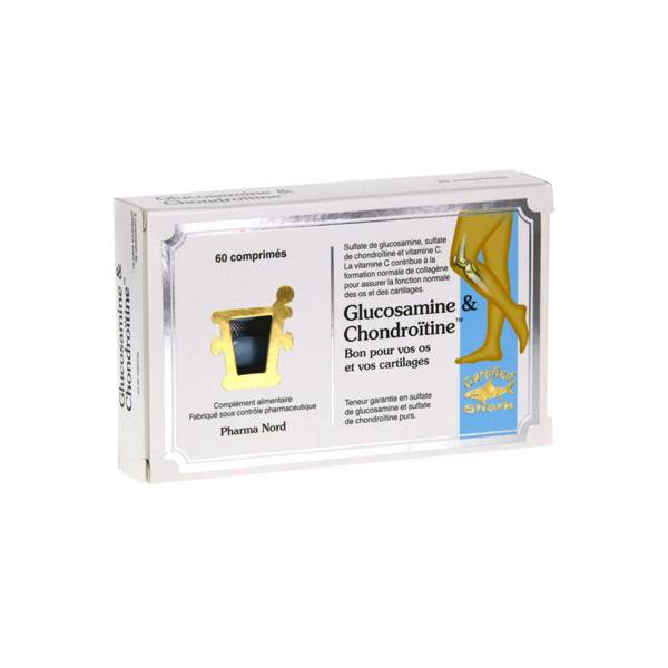 Pharma Nord Glucosamine et Chondroitine 60 comprimés