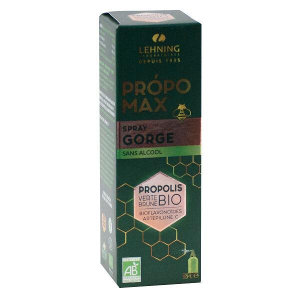 Lehning Propomax Spray Gorge Sans Alcool Propolis Bio 30ml