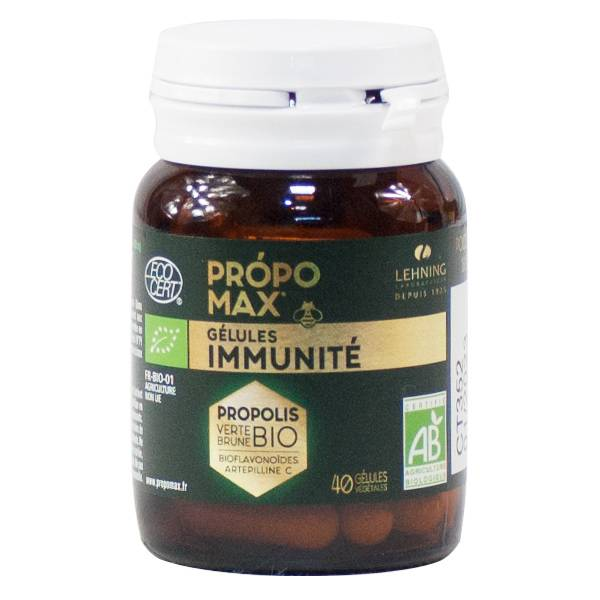 Lehning Propomax Immunité Extrait de Propolis Bio 40 gélules