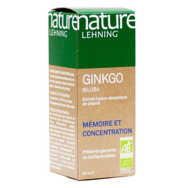 Lehning Nature Ginkgo Biloba Extrait de Plante Active 60ml