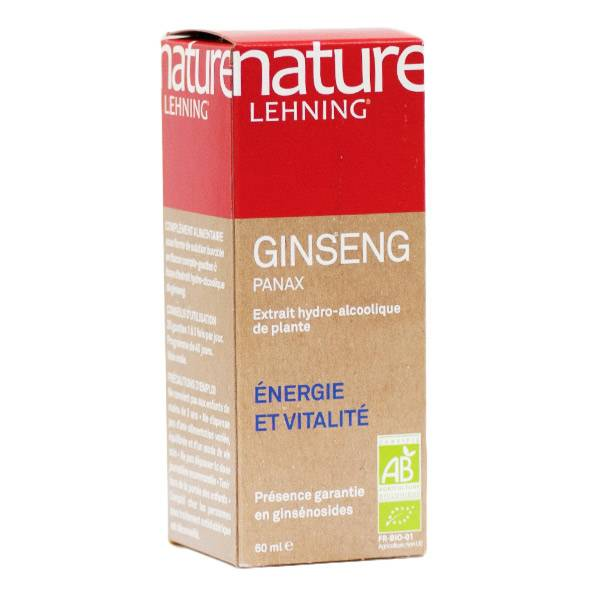 Lehning Nature Ginseng Panax Extrait de Plante Active 60ml