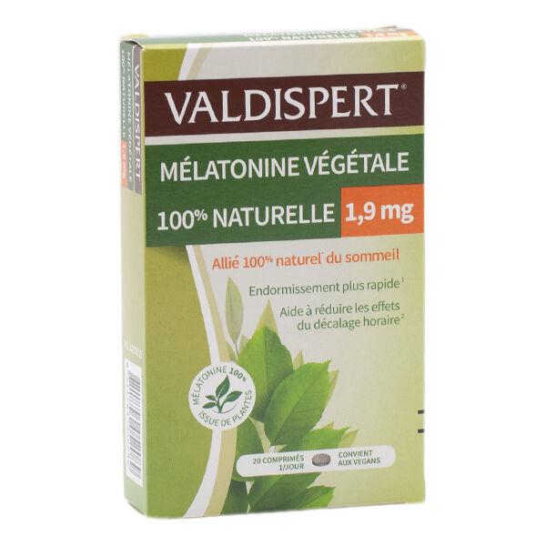 Vemedia Valdispert Mélatonine Végétale 1,9mg 20 comprimés