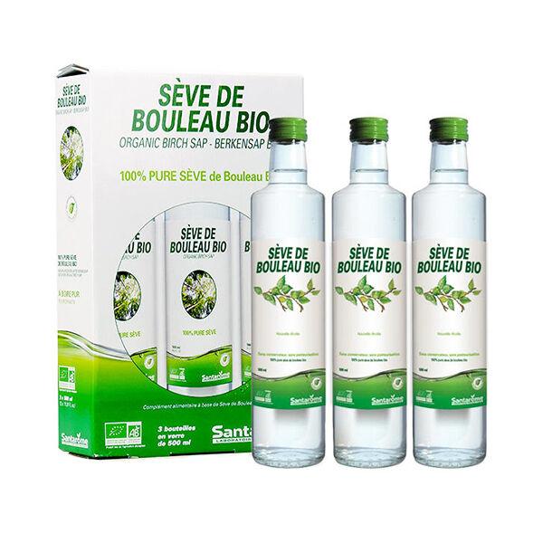 Santarome Bio Pure Sève de Bouleau Lot de 3 x 500ml