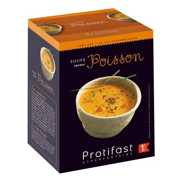 Protifast Soupe Hyperprotéinée Soupe de Poisson 7 sachets