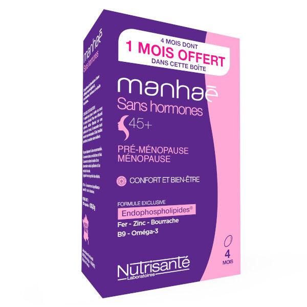 Nutrisanté Manhaé Ménopause 120 capsules cure de 3 mois + 1 mois Offert