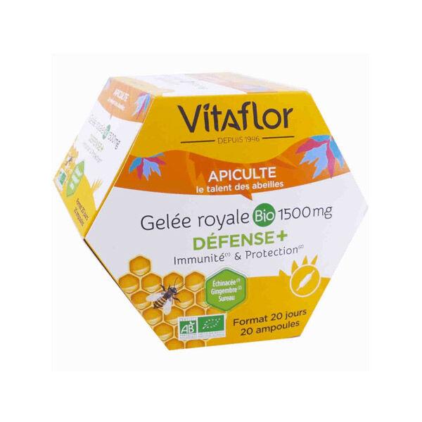 Vitaflor Bio Vitaflor Apiculte Gelée Royale Bio 1500mg Défense+ 20 ampoules