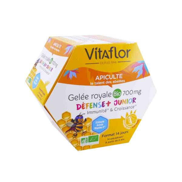 Vitaflor Bio Vitaflor Apiculte Gelée Royale Bio 700mg Junior+ 14 Unicadoses