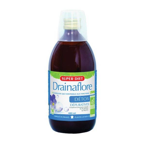 SuperDiet Super Diet Drainaflore Boisson Bio - 480ml