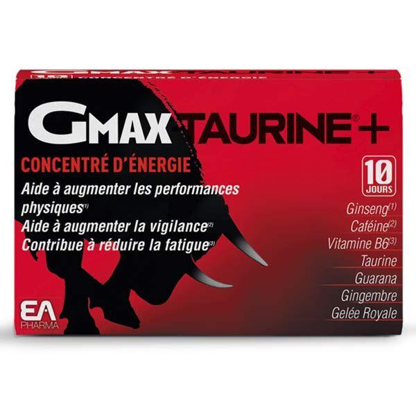 EA Pharma GMax Taurine+ Concentré d'Energie Goût Orange 30 ampoules