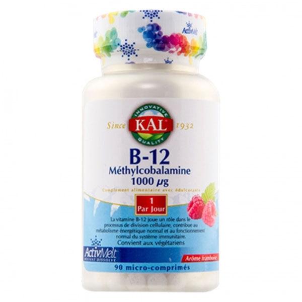 Kal B-12 Méthylcobalamine 1000µg 90 micro-comprimés