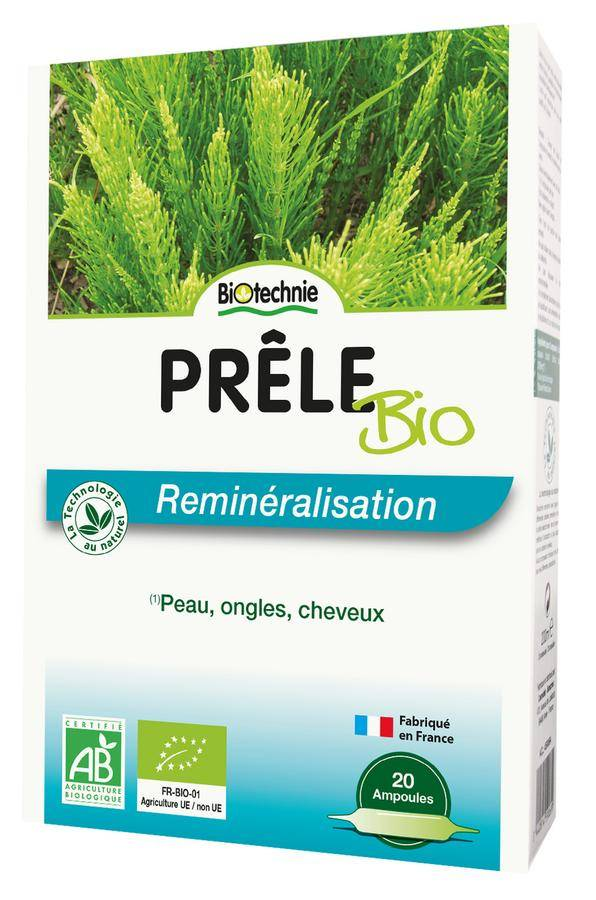 Biotechnie Prêle Bio Reminéralisation 20 ampoules