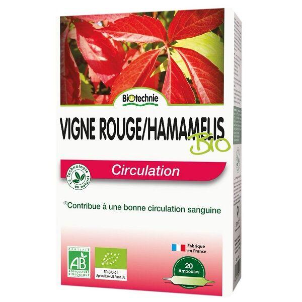 Biotechnie Vigne Rouge et Hamamélis Bio Circulation 20 ampoules
