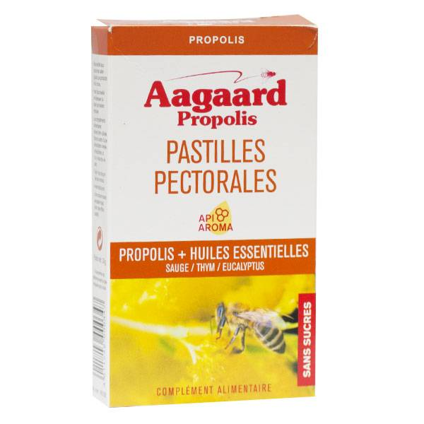 Aagaard Propolis Pastilles Pectorales Apais'toux 30 pastilles