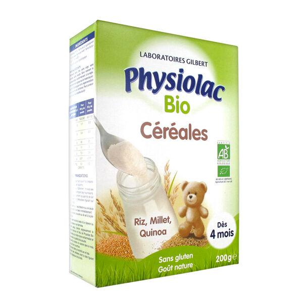 Physiolac Bio Céréales Instantané 4 mois+ 200g