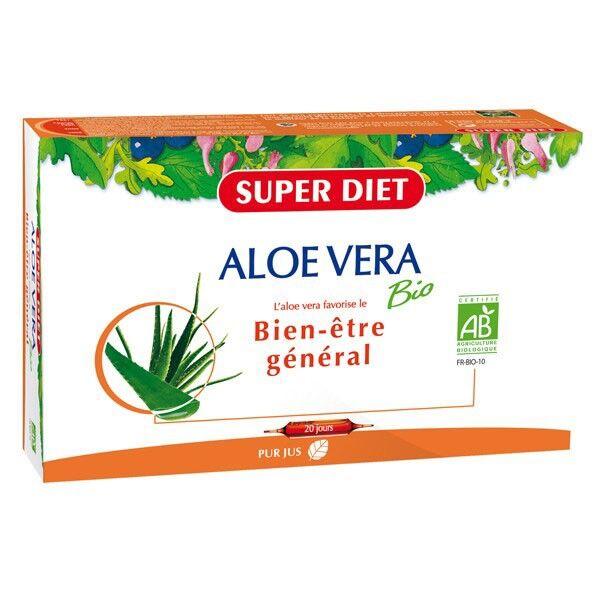Superdiet Aloé Vera Bio 20 ampoules