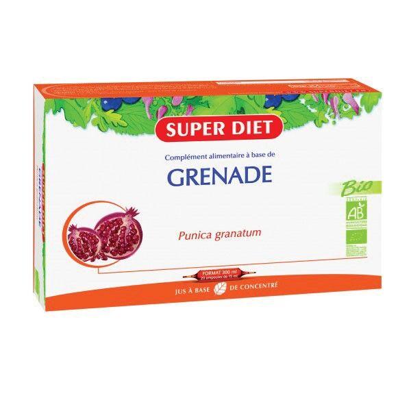 SuperDiet Super Diet Grenade Bio - 20 ampoules de 15ml