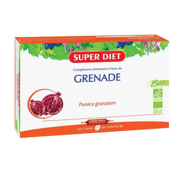 Super Diet Grenade Bio - 20 ampoules de 15ml