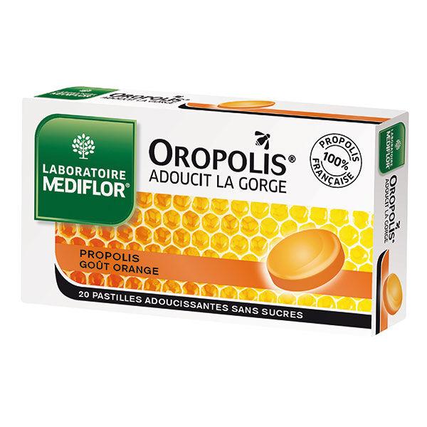 Oropolis Orange sans sucre 20 pastilles