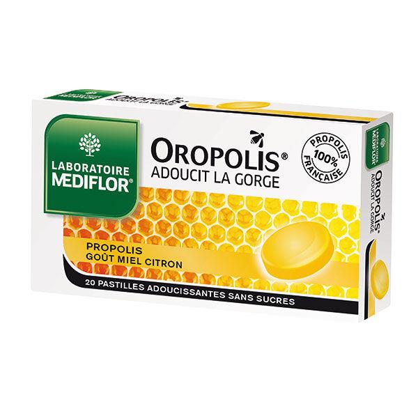 Oropolis Miel Citron sans sucre 20 pastilles