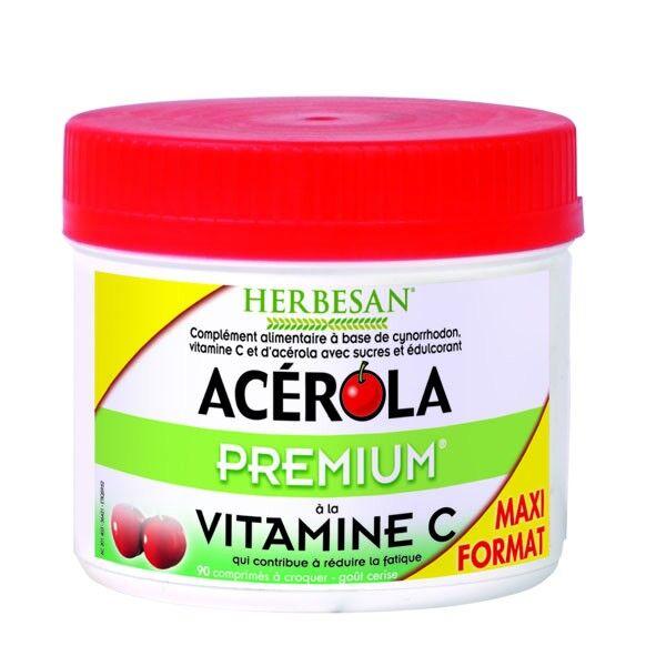 Herbesan Acérola Premium Format Eco 90 comprimés à croquer