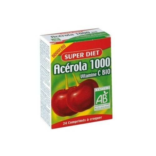 Super Diet Acérola 1000 Bio - 24 comprimés à croquer