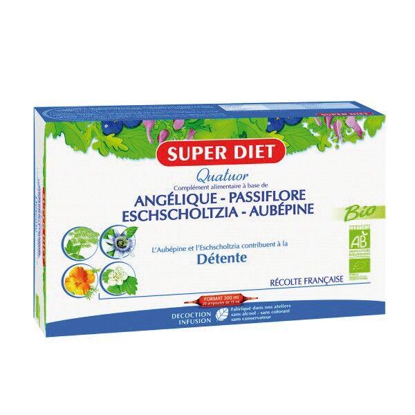 Super Diet Quatuor Passiflore Detente Bio 20 ampoules de 15ml