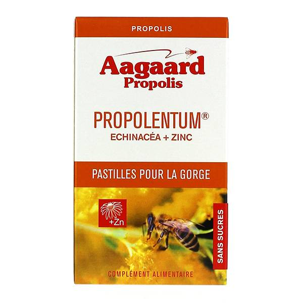 Aagaard Propolis Propolentum + Echinacea + Zinc 30 pastilles