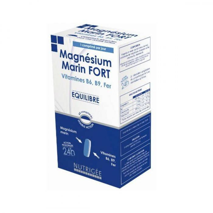 Nutrigée Magnésium Marin Fort 30 comprimés bicouches