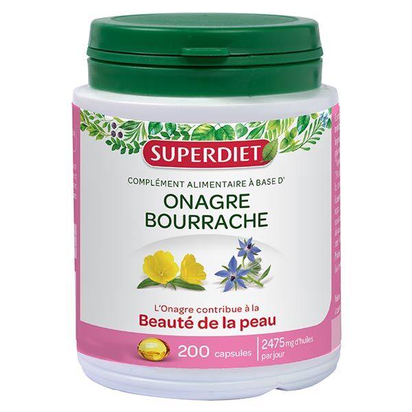 SuperDiet Super Diet Onagre Bourrache 200 capsules