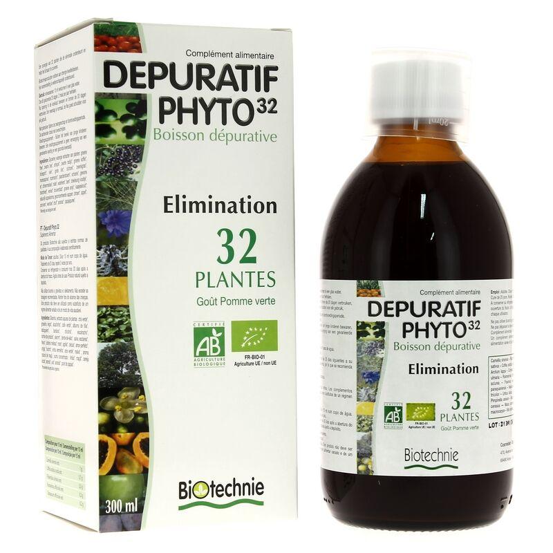 Biotechnie Dépuratif Phyto 32 Bio 300ml