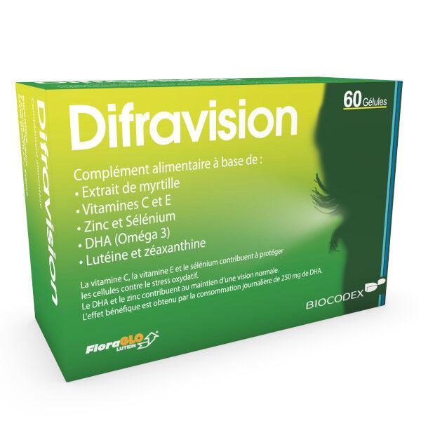 Biocodex Difravision Anti-Vieillissement à Visée Oculaire 60 gélules