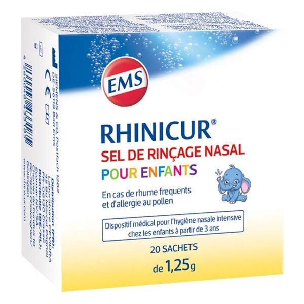 Rhinicur Sel De Rincage Nasale Enfants 20 Sachets de 1,25g