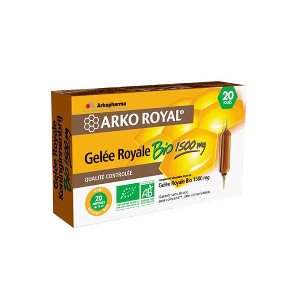 Arkopharma Arkoroyal Gelée Royale Bio 1500mg 20 ampoules